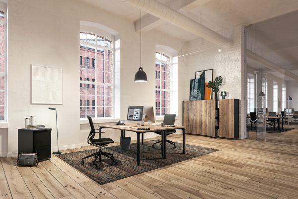 Assmann Schreibtisch und Bürodrehstühle Antaro moderner Look