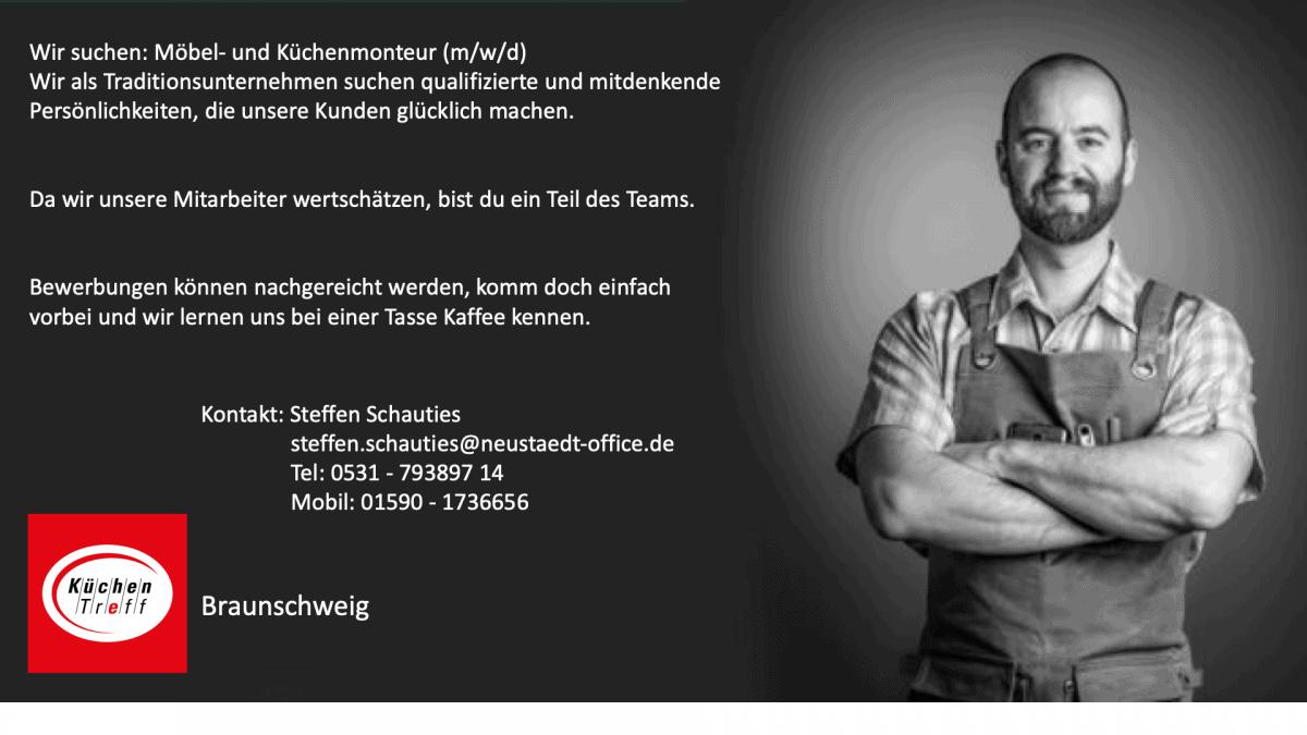 Stellenausschreibung Monteur Küche Möbel Braunschweig